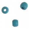 Wood Crowbeads 6X4.5mm Turquoise Lacquered